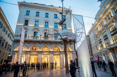 Giuseppe Penone installation for Fendi in Rome