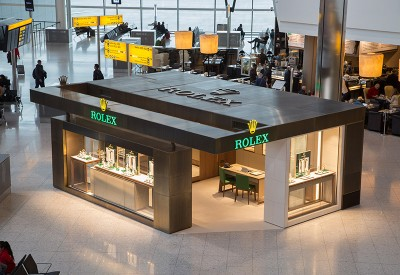 Rolex boutique at London Heathrow