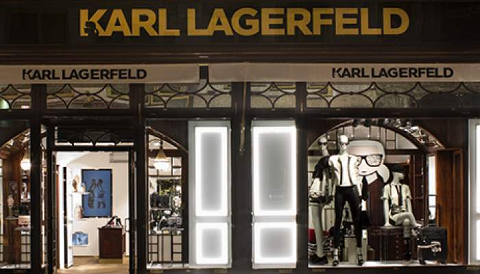 karl lagerfeld opens first store in vienna cpp luxury. Black Bedroom Furniture Sets. Home Design Ideas