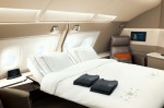 Singapore Airlines hotel rooms in First Class on Airbus A380
